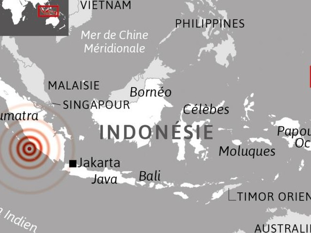 Indonésie. Séisme de magnitude 6,4 à Sumatra, pas de risque de tsunami
