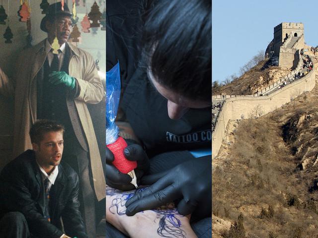 A la télé ce soir : Seven, Tattoo cover, L'histoire de la grande muraille de Chine sont dans le top 3 de Télé Star