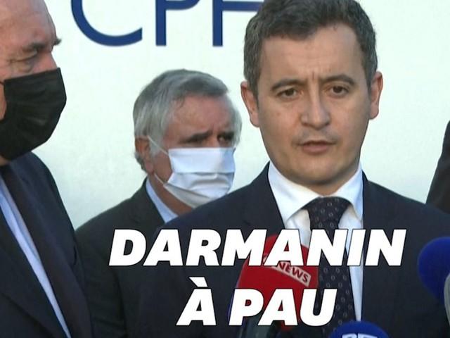 """À Pau, Gérald Darmanin dit """"sa tristesse"""" après la mort d'un responsable d'un centre pour réfugiés"""