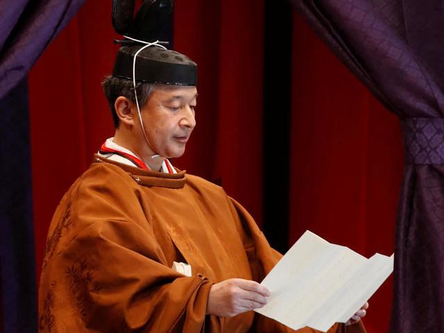 EN IMAGES.Japon: le nouvel empereur a proclamé son intronisation