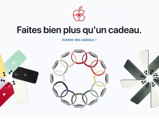 Apple publie ses idées cadeaux pour Noël 2019