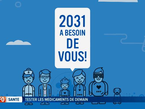 """""""2031 a besoin de vous"""": cette campagne pour recruter des """"testeurs"""" de médicaments pourrait vous intéresser"""