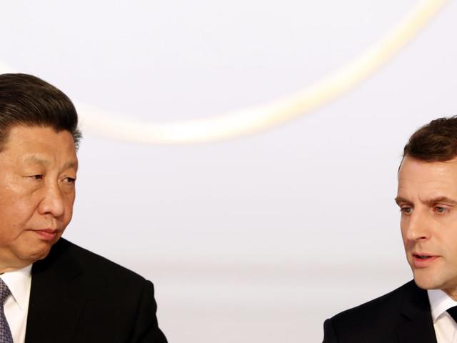 """Macron demande à la Chine et Xi Jinping de """"respecter l'unité de l'UE"""""""