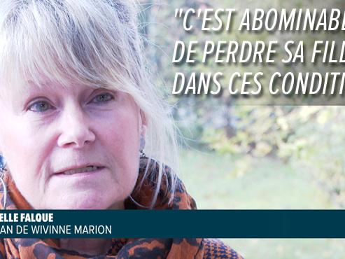 Un an après l'assassinat de Wivinne Marion, sa maman témoigne pour la première fois
