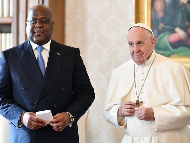 Rencontre chaleureuse entre le pape et le président de RD-Congo