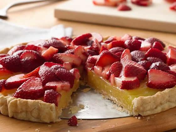 Tarte au citron et fraises au thermomix