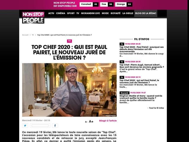 Top Chef 2020 : qui est Paul Pairet, le nouveau juré de l'émission ?