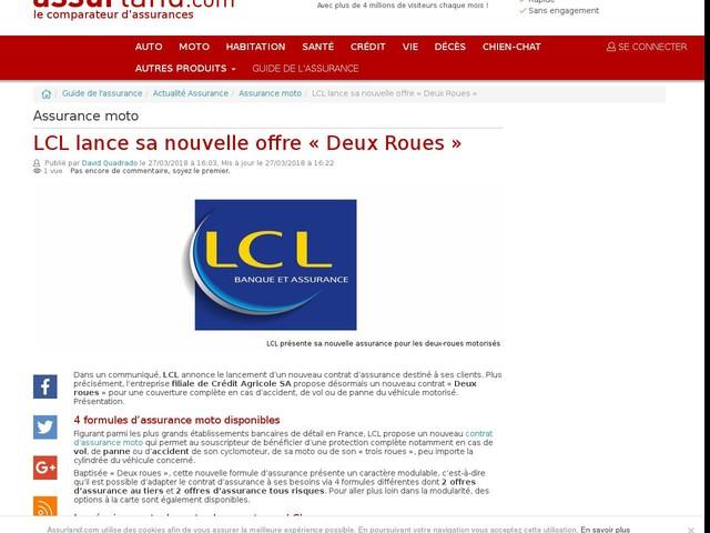 LCL lance sa nouvelle offre « Deux Roues »