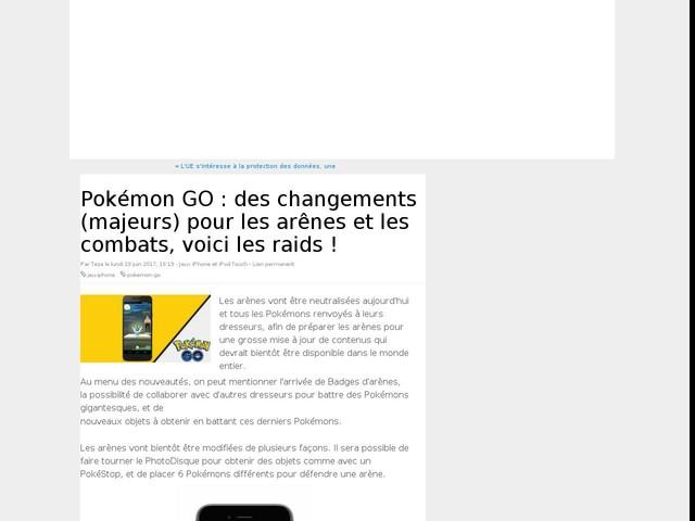 Pokémon GO : des changements (majeurs) pour les arênes et les combats, voici les raids !