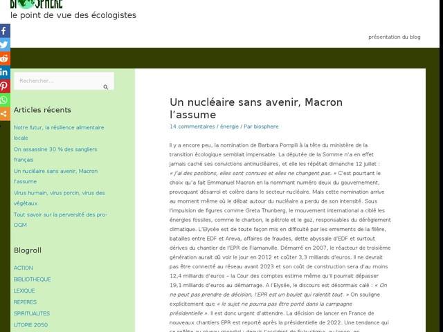 Commentaires sur Un nucléaire sans avenir, Macron l'assume par Michel C