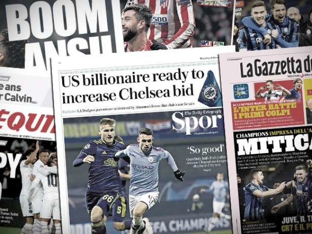Un milliardaire américain veut faire plier Roman Abramovich pour racheter Chelsea, l'incroyable exploit de l'Atalanta fait chavirer l'Italie