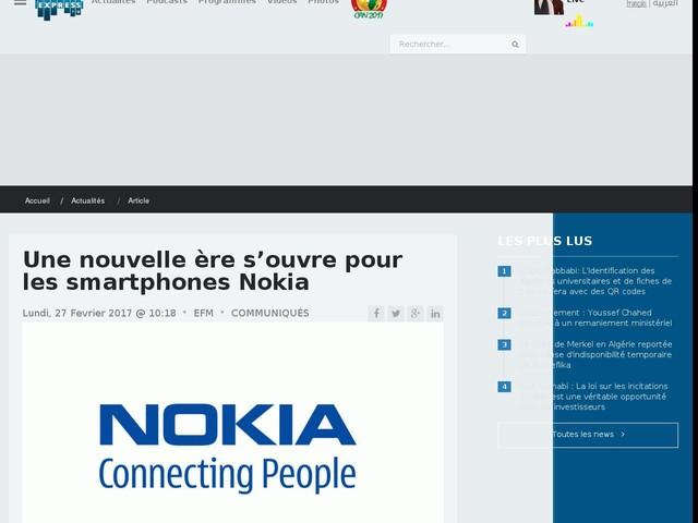Une nouvelle ère s'ouvre pour les smartphones Nokia