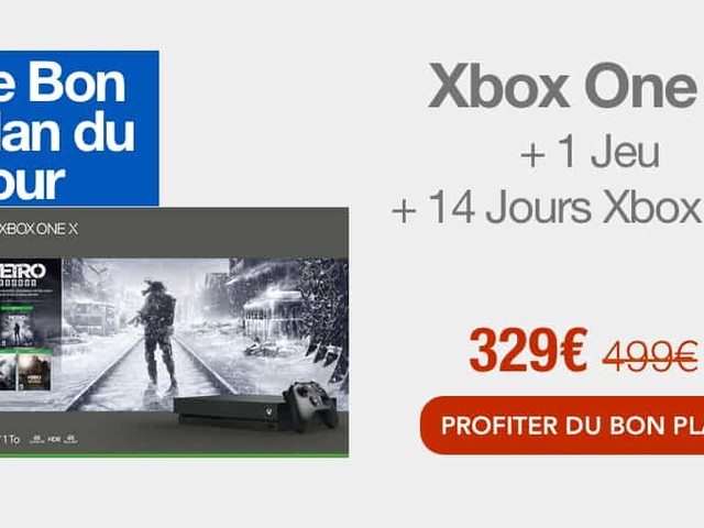 Bon plan : la Xbox One X 1 To + un jeu à 329€