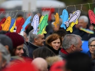 """A Bologne, des """"Sardines"""" par milliers pour faire barrage à l'extrême droite"""