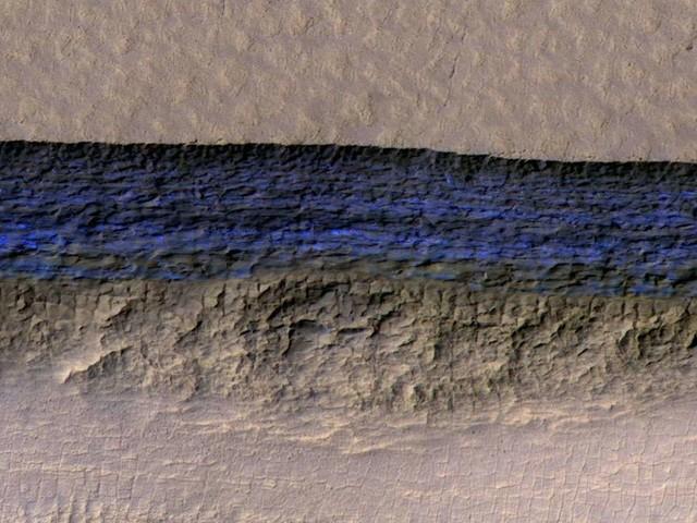 Mars : de la glace découverte en grande quantité sous sa surface !