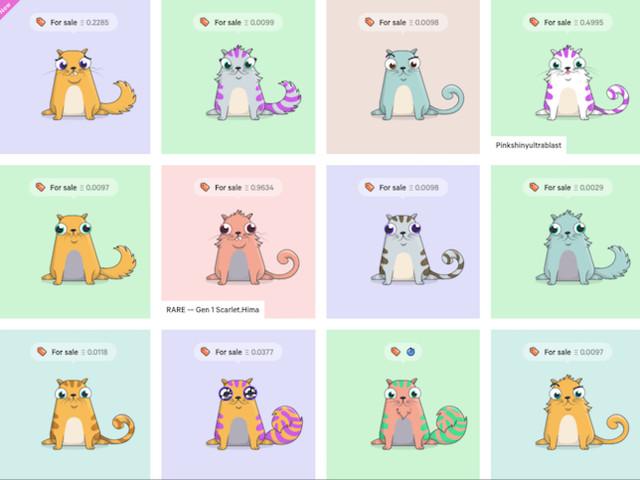 Les chatons virtuels à l'assaut de la blockchain