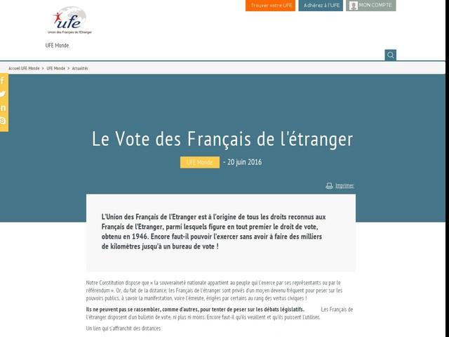 Le Vote des Français de l'étranger