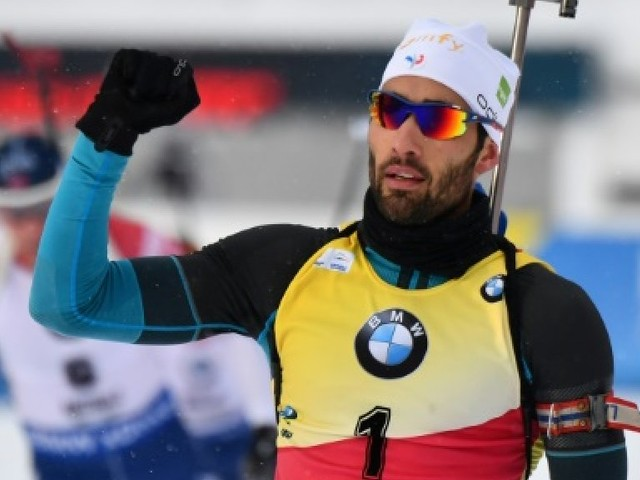 Biathlon: 69e victoire en Coupe du monde pour Martin Fourcade, lors de la mass start d'Anterselva