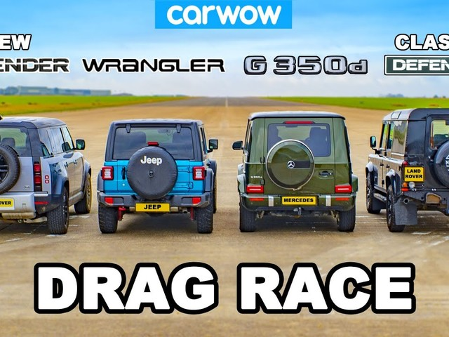 VIDEO - Jeep Wrangler, Mercedes Classe G et Land Rover Defender, qui est le plus rapide ?