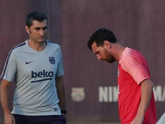 Foot - ESP - Barça - Ernesto Valverde (Barça) : «Pour nous, le meilleur c'est Leo (Messi)»