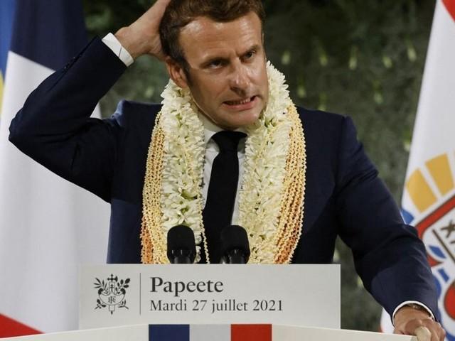 """En Polynésie, Macron reconnaît """"la dette"""" de la France sur les essais nucléaires mais..."""