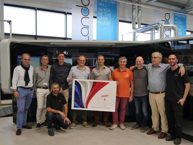 La presse nanographique Landa arrive en France à l'imprimerie Prenant (94)