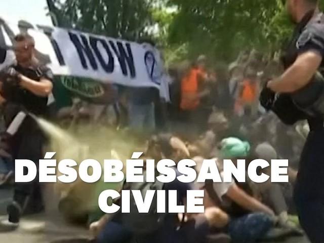 Cette vidéo de militants pacifistes pour le climat violemment évacués indigne jusqu'à l'étranger