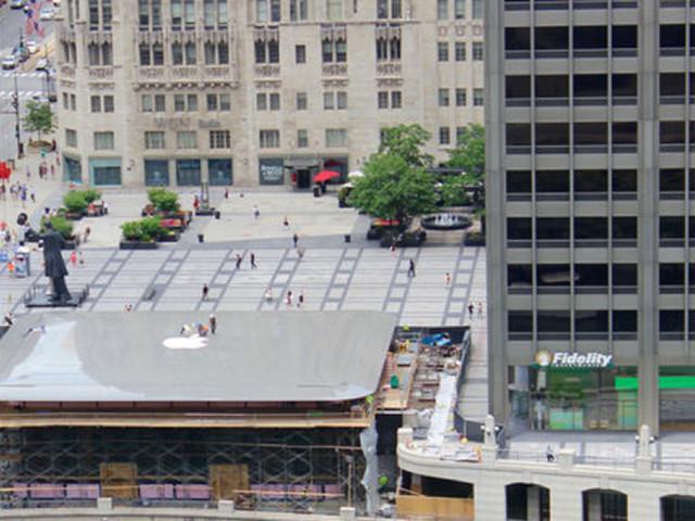 Le toit de ce futur Apple Store est un MacBook géant