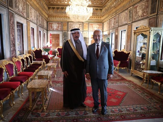 Tunisie- Rached Ghanouchi reçoit l'ambassadeur de l'Arabie Saoudite en Tunisie
