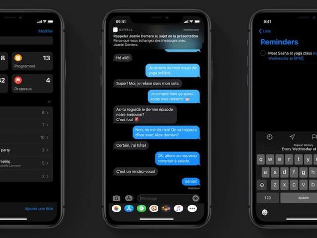 Mode sombre: jusqu'à 30 % d'autonomie supplémentaire sur iPhone