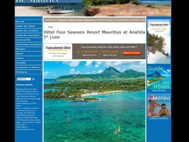 Hôtel Four Seasons Resort Mauritius at Anahita 5* Luxe