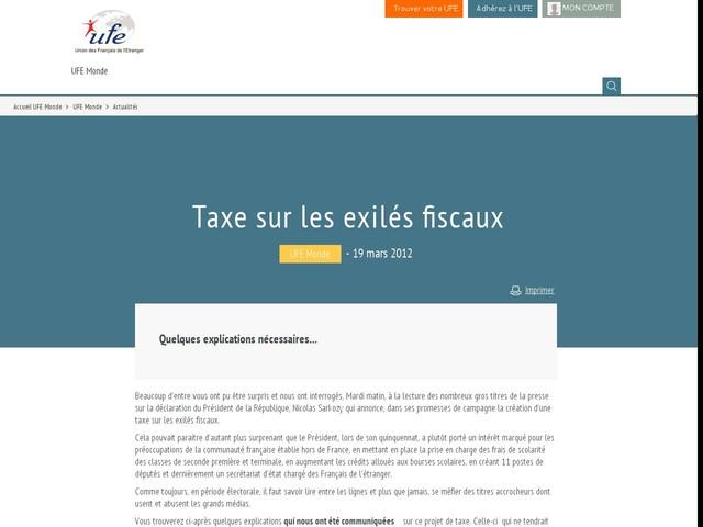 Taxe sur les exilés fiscaux