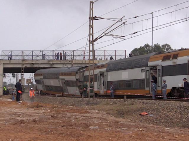 Déraillement d'un train à Bouknadel: Une voie a été dégagée entre Salé et Kénitra
