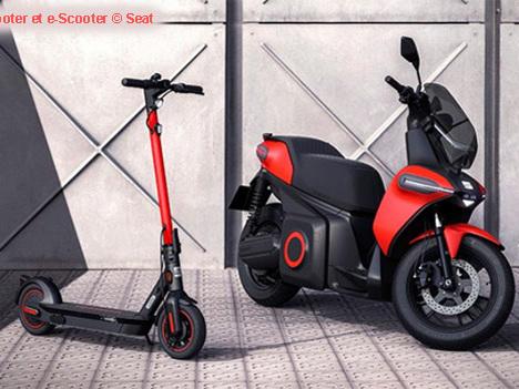 Seat présente un scooter et une nouvelle trottinette électriques
