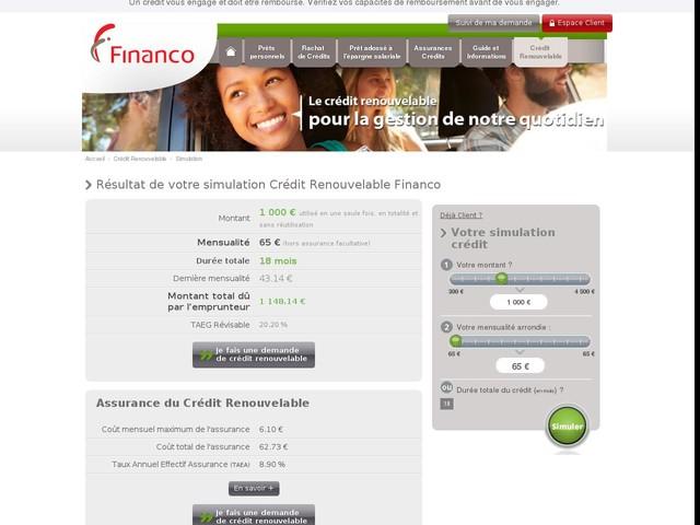 Financo - Erreur - Navigateur non supporté