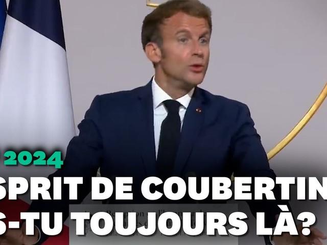 """Quand Emmanuel Macron passe de la petite à la grosse """"entorse"""" à l'esprit de Coubertin"""