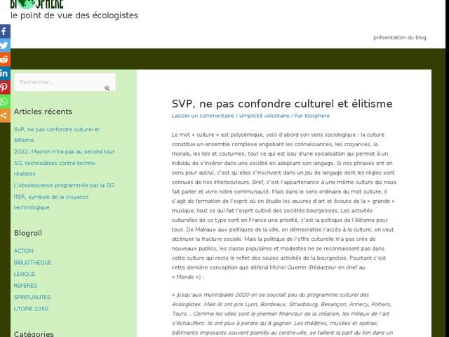 SVP, ne pas confondre culturel et élitisme