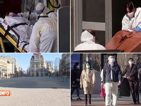 Mars 2020: Europe confinée, hôpitaux submergés, rues désertes, la vie reprend à Wuhan