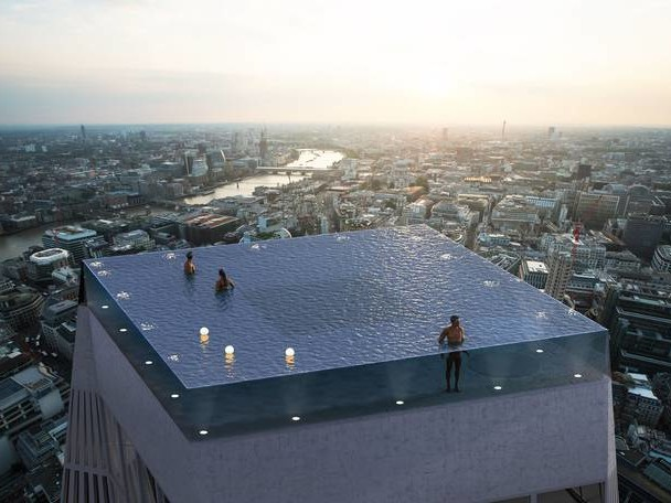 Infinity Pool on Top of a Skyscraper in London