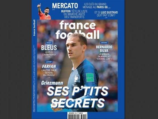 Foot - Médias - Griezmann intime en une de France Football