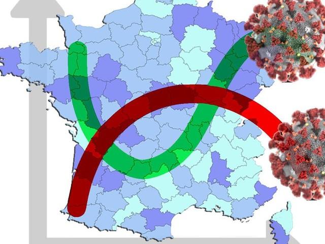 Covid-19: les courbes et cartes de l'épidémie à l'épreuve du variant