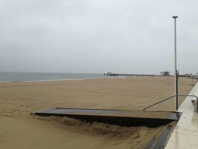 Tempête : l'accès aux plages et aux jetées est fermé à Arcachon
