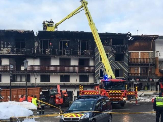 Un homme soupçonné dans l'incendie meurtrier à Courchevel placé en garde à vue