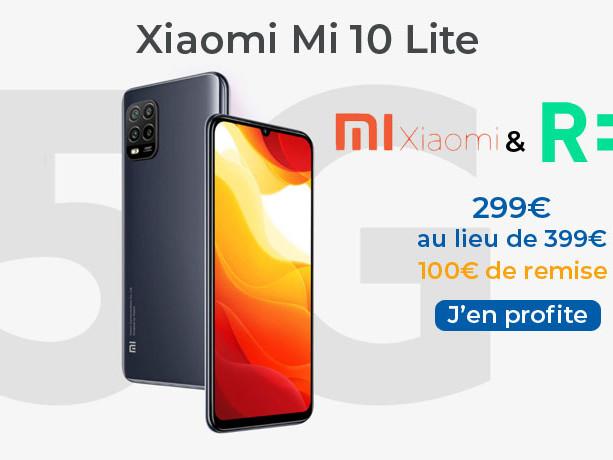 Remise de 100€ sur le Xiaomi Mi 10 Lite avec RED by SFR
