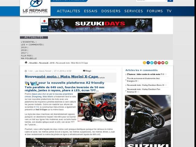 Nouveauté moto : Moto Morini X-Cape