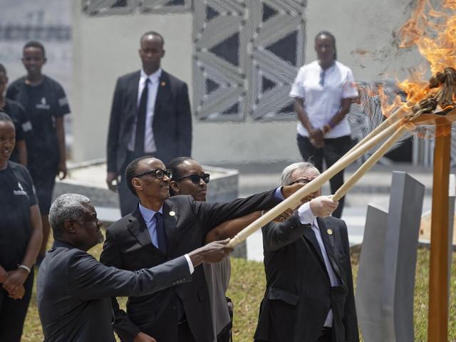 Génocide rwandais: Le président Kagame a donné le coup d'envoi de la cérémonie de commémoration