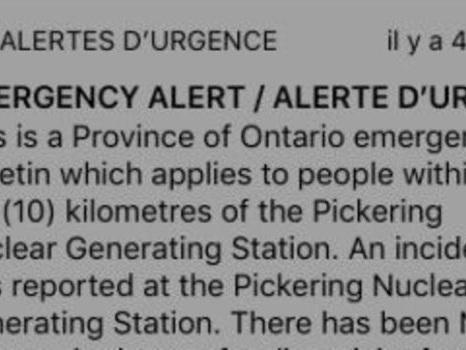 Canada : frayeur et colère après une fausse alerte dans une centrale nucléaire