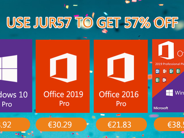 Promotion pour la bonne année : Windows 10 Pro à 8,92 €, Office 2019 Pro à 30,29 €