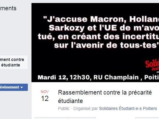 Etudiant immolé à Lyon : un rassemblement prévu ce mardi à Poitiers