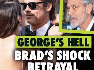 George Clooney, la guerre, terrible trahison, Brad Pitt lui en veut à mort (photo)